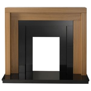 View Rochester Oak Veneer Black Fire Surround Set details