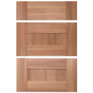 IT Kitchens Westleigh Walnut Effect Shaker Drawer Front (W)600mm  Set of 3