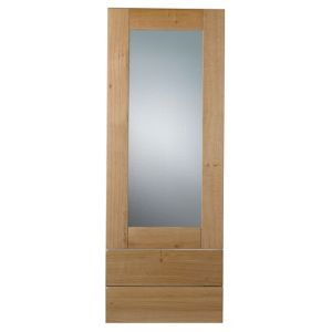 View Cooke & Lewis Solid Oak 500mm Tall Glazed Door & Drawer Front, Pack  W1, Set of 3 details