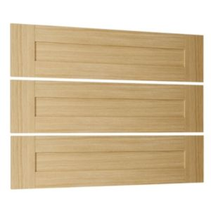 View Cooke & Lewis Ferrara Oak Style Shaker 3 Linen Drawer Front Pack details