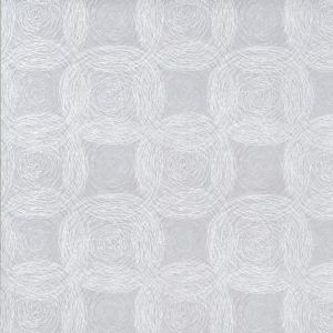 View Geometric Circles White & Grey Textured Blown Vinyl On Non Woven Wallpaper details