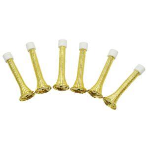 B&Q Carbon Steel Brass Effect Door Stop  Pack of 6