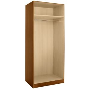 View Cooke & Lewis Walnut Effect 3 Drawer Double Wardrobe Carcass details