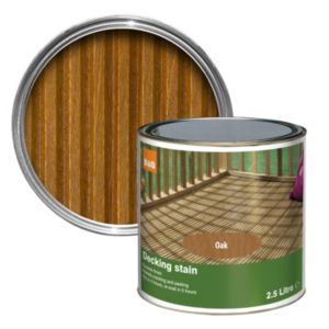 View B&Q Medium Oak Matt Finish Decking Stain 2.5L details