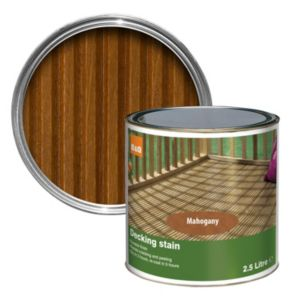 View B&Q Mahogany Matt Finish Decking Stain 2.5L details