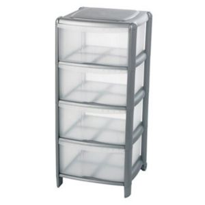 View B&Q Plastic 4 Drawer Tower Unit details