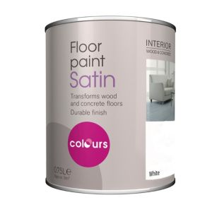 View Colours White Satin Floor Paint 750ml details