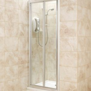 View Square Bi-Fold Shower Door (W)800mm (D)800mm details