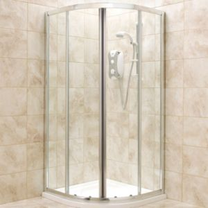 View B&Q Quadrant Shower Enclosure with Double Sliding Doors (W)800mm (D)800mm details