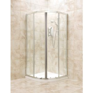 View B&Q Quadrant Shower Enclosure with Corner Entry Sliding Door (W)900mm (D)900mm details