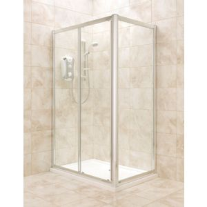 View B&Q Rectangular Shower Enclosure with Single Sliding Door (W)1200mm (D)800mm details