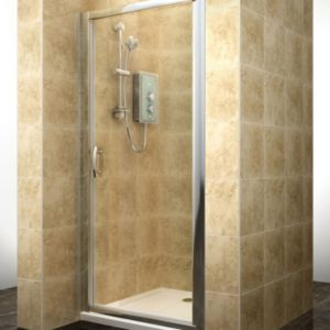 View Cooke & Lewis Deluvio Pivot Shower Door (W)800mm details