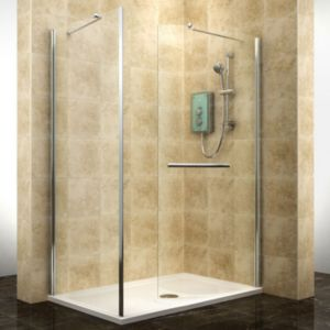 View Cooke & Lewis Deluvio Rectangular Shower Enclosure (W)1400mm (D)900mm details