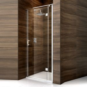 View Cooke & Lewis Cascata Pivot Shower Door (W)800mm details