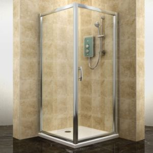 View Cooke & Lewis Deluvio Square Shower Enclosure with Hinged Door (W)900mm (D)900mm details