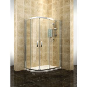 View Cooke & Lewis Deluvio Offset Quadrant Shower Enclosure with Double Sliding Door (W)1200mm (D)800mm details