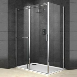 View Cooke & Lewis Eclipse Rectangular Shower Enclosure with Sliding Door (W)1400mm (D)900mm details