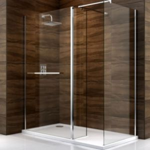 View Cooke & Lewis Cascata Rectangular Shower Enclosure with Walk-In Entry details