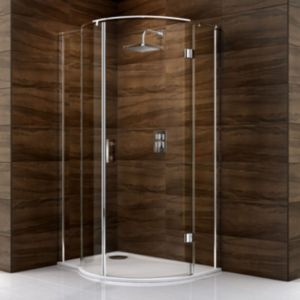View Cooke & Lewis Cascata P Shaped Shower Enclosure LH (W)1200mm (D)900mm details