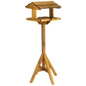 View B&q Timber Bird Table