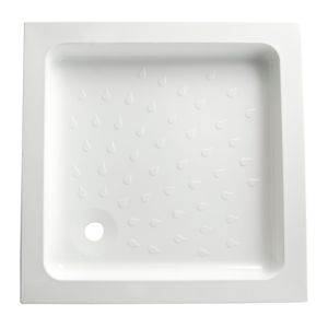 View B&Q Square Shower Tray (W)760mm (D)760mm details