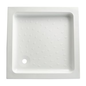 View B&Q Square Shower Tray (W)800mm (D)800mm details