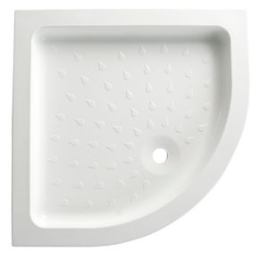 View B&Q Quadrant Shower Tray (W)800mm (D)800mm details