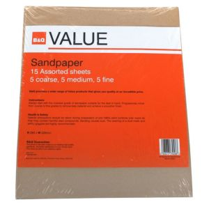 View B&Q Value Assorted Sanding Sheet, Pack of 15 details