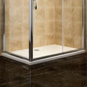 View Cooke & Lewis Deluvio Low Profile Rectangular Shower Tray (W)1400mm (D)900mm details