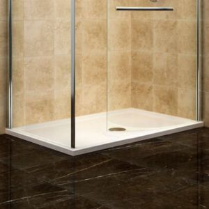 View Cooke & Lewis Deluvio Low Profile Rectangular Shower Tray LH (W)1400mm (D)900mm details
