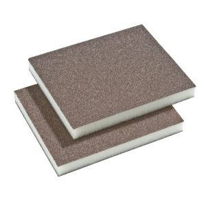 View B&Q Duel Grit Fine/Medium Sanding Pad, Pack of 2 details
