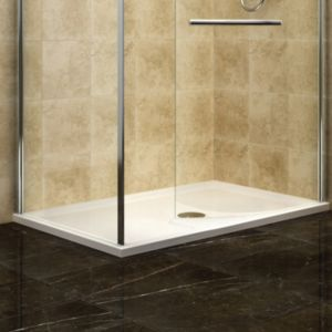 View Cooke & Lewis Deluvio Low Profile Rectangular Shower Tray RH (W)1400mm (D)900mm details
