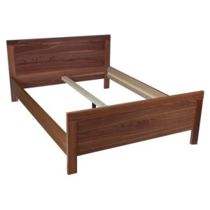 View B&Q Walnut Effect Bed Frame, Double details