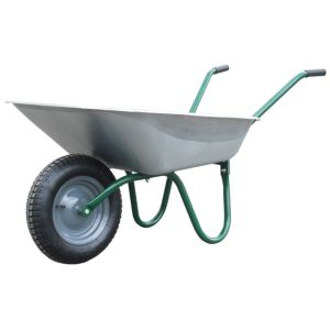 View B&Q Value Green 85L Wheelbarrow details