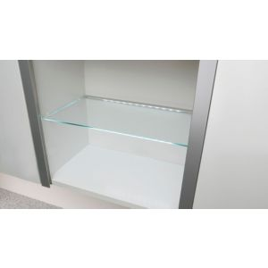 View IT Kitchens Glass Cupboard Shelf (L)458mm (D)280mm details