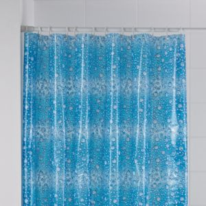 View B&Q Blue Fizz Shower Curtain details