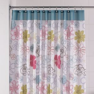 View B&Q Multicolour Annabel Shower Curtain details