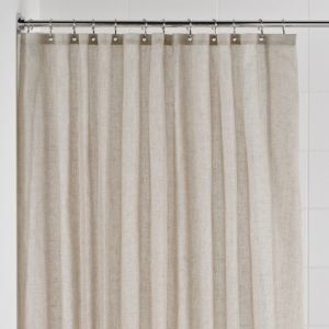 View Cooke & Lewis Cream Linen Shower Curtain with Basket details