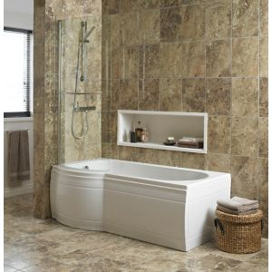 View Cooke & Lewis Adelphi Curved Bath Screen details