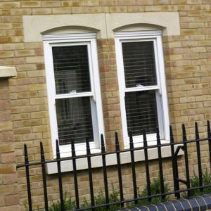 View Glazed White Timber Single Vertical Downward Slide Sliding Sash Window (H)1050mm (W)860mm details