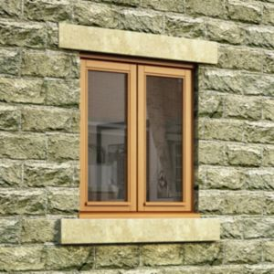 View Double Glazed Oak Double Side Hung Casement Window (H)1050mm (W)915mm details