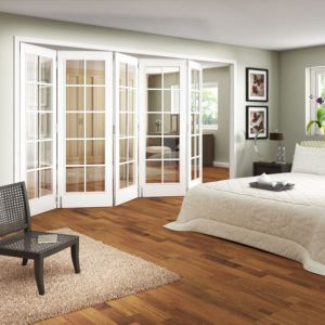 View 10 Lite White Primed Fully Glazed Internal Room Divider, (H)1981mm (W)3050mm details