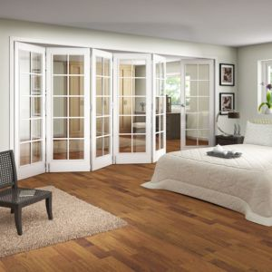 View 10 Lite White Primed Fully Glazed Internal Room Divider, (H)1981mm (W)3660mm details