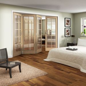 View Earleigh 10 Lite Oak Veneer Fully Glazed Internal Room Divider, (H)1981mm (W)1830mm details