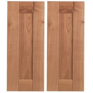 View Cooke & Lewis Solid Oak 625mm Corner Door, PACK DD, Pack of 2 details