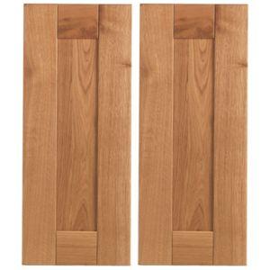 Cooke & Lewis Chesterton Solid Oak Corner Base Door (W)925mm  Set of 2