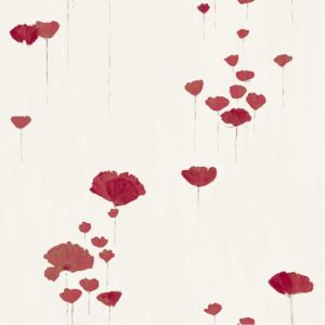 View Floral Flowers Cream & Red Standard Paper Wallpaper details
