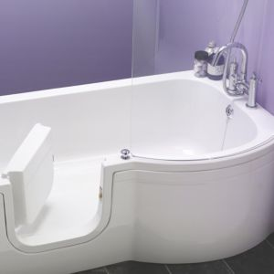 View Cooke & Lewis Leonato RH Acrylic P-Shaped Shower Bath (L)1675mm (W)850mm details