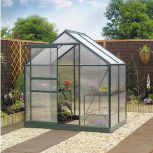 View B&Q Metal Greenhouse Frame & Base 6X4 details