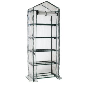 View B&Q Plastic 5 Tier Mini Greenhouse details